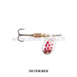 Blizgė Mepps Aglia Decoree Silver/Red