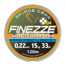 Pintas valas SG Finesse HD4 PE 120m 0.10mm 6kg Grey