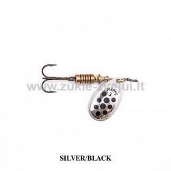 Blizgė Mepps Aglia Decoree Silver/Black