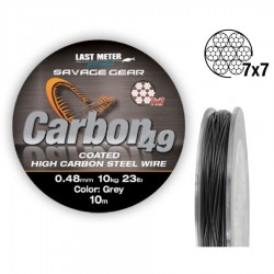 Pavadėliai SG Carbon49 0.60mm 16kg. Coated Grey 10m