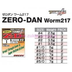 Kabliukas su svoriu Decoy Worm 217 ZERO DAN