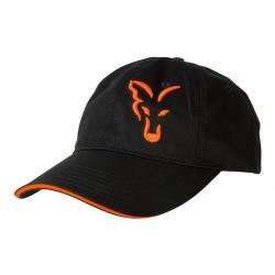 Kepurė FOX juoda/oranžinė